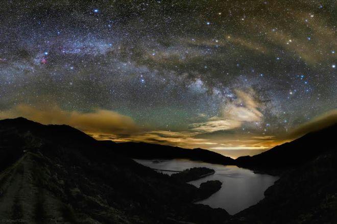 Starry Night over 'Lagoa do Fogo.' [Lake of Fire], São Miguel, Azores